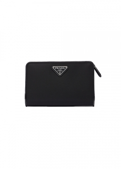 PRADA - Wallet Collection - - 二つ折り財布 / SAFFIANO TRIANGOLO 【NERO】