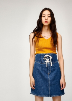 COREST BELT DENIM SKIRT