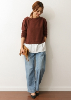 URBAN RESEARCH warehouse - Tops & Onepiece - インナー付 KNITプルオーバー