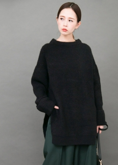 URBAN RESEARCH warehouse - Tops & Onepiece - サイドスリットBIGニット