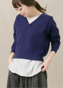 URBAN RESEARCH warehouse - Tops & Onepiece - KBF+ Vネックリブワイドニット