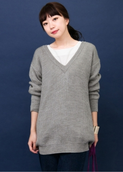 URBAN RESEARCH warehouse - Tops & Onepiece - KBF+ 深Vニットチュニック