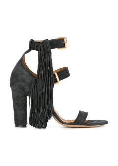 LUXURY BRAND BUYING SELECT - 【Chloe】HIGH HEEL MAYA SANDALS WITH FRINGES(海外買付のため約3~4週間後のお届けです)