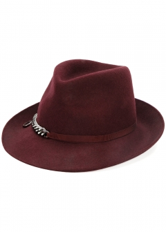 LUXURY BRAND BUYING SELECT - 【STELLA McCARTNEY】【'17秋冬新作】WOOL HAT WITH CHAIN(海外買付のため約3~4週間後のお届けです)