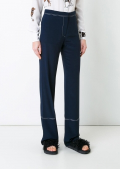 LUXURY BRAND BUYING SELECT - 【STELLA McCARTNEY】CREPE DE CHINE TROUSERS(海外買付のため約3~4週間後のお届けです)