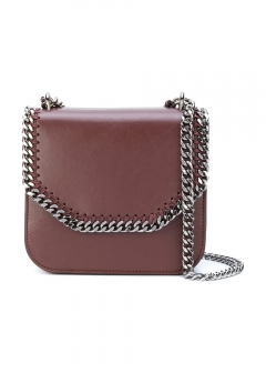 LUXURY BRAND BUYING SELECT - 【STELLA McCARTNEY】FALABELLA BOX SHOULDER BAG WITH CHAIN(海外買付のため約3~4週間後のお届けです)
