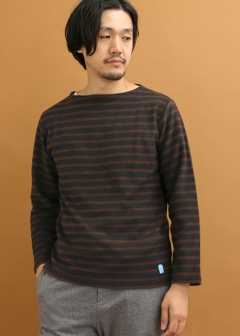 URBAN RESEARCH warehouse - mens - FORK&SPOON Brushed Border Boatneck