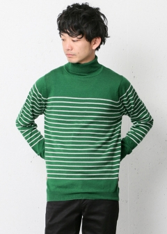 URBAN RESEARCH warehouse - mens - Washable Wool Turtle Knit