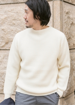 URBAN RESEARCH warehouse - mens - 両畦 Stand Knit