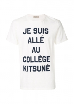 IMPORT BRAND COLLECTION - 【MAISON KITSUNE】TEE PERM TEE SHIRT JE SUIS ALLE  カレッジプリントTee
