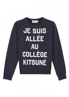 IMPORT BRAND COLLECTION - 【MAISON KITSUNE】PERM SWEAT SHIRT JE SUIS ALLE グラフィック クルーネックプルオーバー スウェット