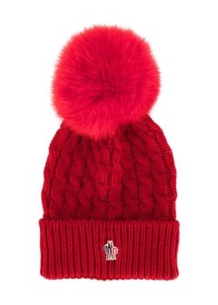 LUXURY BRAND BUYING SELECT - 【MONCLER GRENOBLE】【'17秋冬新作】WOOL HAT WITH BOW(海外買付のため約3~4週間後のお届けです)