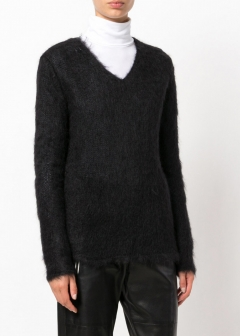 LUXURY BRAND BUYING SELECT - 【SAINT LAURENT】【'17秋冬新作】V NECKED MOHAIR SWEATER(海外買付のため約3~4週間後のお届けです)