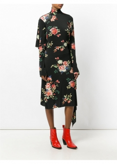 LUXURY BRAND BUYING SELECT - 【VETEMENTS】【'17秋冬新作】FLORAL PRINTED DRESS(海外買付のため約3~4週間後のお届けです)