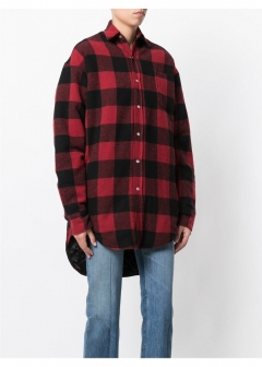 LUXURY BRAND BUYING SELECT - 【VETEMENTS】【'17秋冬新作】PLAID WOOL-BLEND FLANNEL SHIRT(海外買付のため約3~4週間後のお届けです)