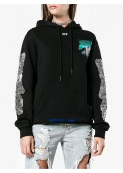 LUXURY BRAND BUYING SELECT - 【OFF-WHITE】【'17秋冬新作】PEEP OVERSIZED COTTON HOODIE(海外買付のため約3~4週間後のお届けです)