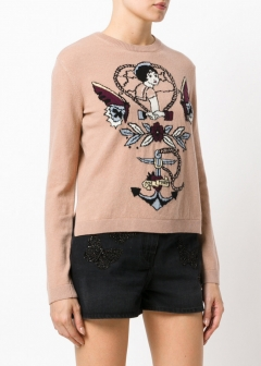 LUXURY BRAND BUYING SELECT - VALENTINO -  - 【VALENTINO】【'17秋冬新作】WOOL TATTOO EMBROIDERED SWEATER(海外買付のため約3~4週間後のお届けです)