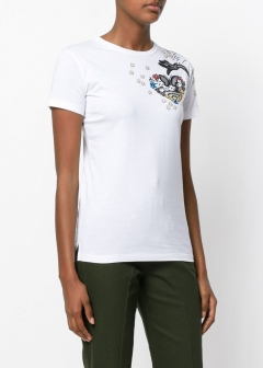 LUXURY BRAND BUYING SELECT - VALENTINO -  - 【VALENTINO】【'17秋冬新作】EMBROIDERED COTTON T-SHIRT(海外買付のため約3~4週間後のお届けです)