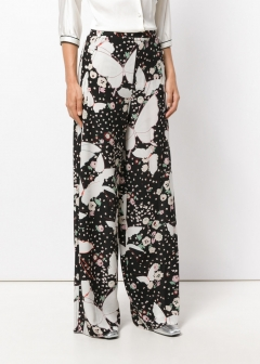 LUXURY BRAND BUYING SELECT - VALENTINO -  - 【VALENTINO】【'17秋冬新作】PRINTED SILK TROUSERS(海外買付のため約3~4週間後のお届けです)