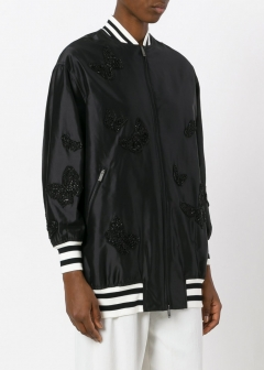 LUXURY BRAND BUYING SELECT - VALENTINO -  - 【VALENTINO】【'17秋冬新作】EMBROIDERED LONG BOMBER JACKET(海外買付のため約3~4週間後のお届けです)