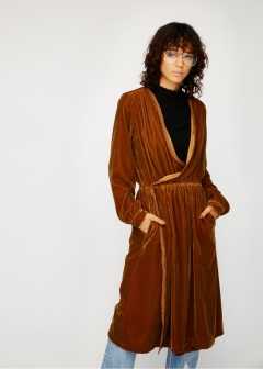 VELOUR WRAP ROBE