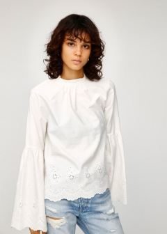 EYELET EMBROIDERY BLOUSE