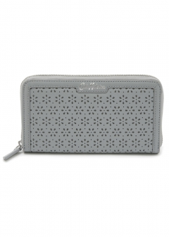 Perforated Leather Continental WalLat Solid