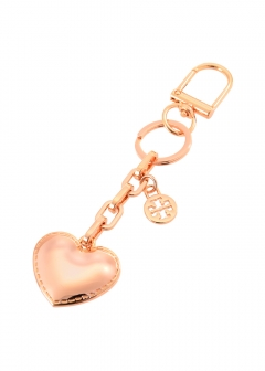 Tory Burch - キーホルダー / Logo & Heart Metal 【ROSE GOLD】