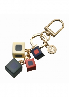 Tory Burch - キーホルダー / GEO SQUARE LAYERED 【MULTI /TORY GOLD】