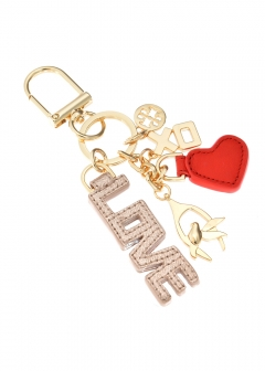 Tory Burch - キーホルダー / XO CHARM KEY FOB 【ROSE GOLD】