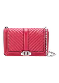 LUXURY BRAND BUYING SELECT - 【Rebecca Minkoff】LEATHER QUILTED LOVE CROSSBODY BAG(海外買付のため約3~4週間後のお届けです)