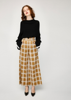 PATTERN WIDE PANTS