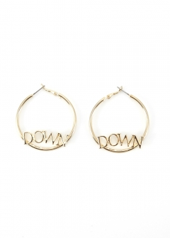 MESSAGE HOOP EARRINGS