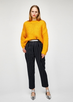 HIGH WAIST TUCK PANTS