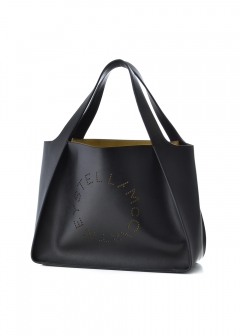 Stella McCartney - トートバッグ / SMALL TOTE LOGO BAG ALTER NAPPA 【NERO】