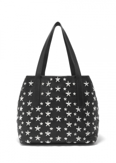 JIMMY CHOO - SOFIA M トートバッグ / LEATHER WITH STARS 【BLACK】