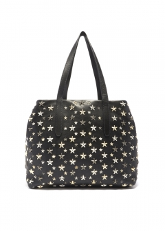 JIMMY CHOO - SOFIA S トートバッグ / LEATHER WITH STARS 【BLACK】
