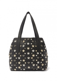 SOFIA S トートバッグ / LEATHER W/MULTI METAL STARS 【BLACK+METALLIC MIX】