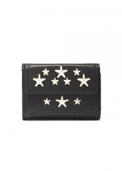 NEMO 三つ折り財布 / CALF LEATHER WITH STARS 【BLACK】