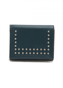 SMALL FOLDED WALLET WITH STUDS(c) 三つ折り財布