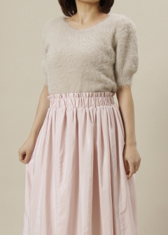 Roomy's OUTLET - 【1/16入荷】ラクーンタッチベーシック半袖ニット【MIIA】