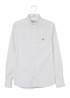 MAISON KITSUNE - EMBROIDERED FOX HEAD SHIRT