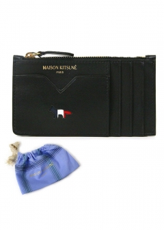 【MAISON KITSUNE】【国内未発売】TRICOLOR ZIPPED COIN PURSE LEATHER