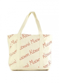 MAISON KITSUNE  - SHOPPING BAG ALL-OVER MAISON KITSUNE