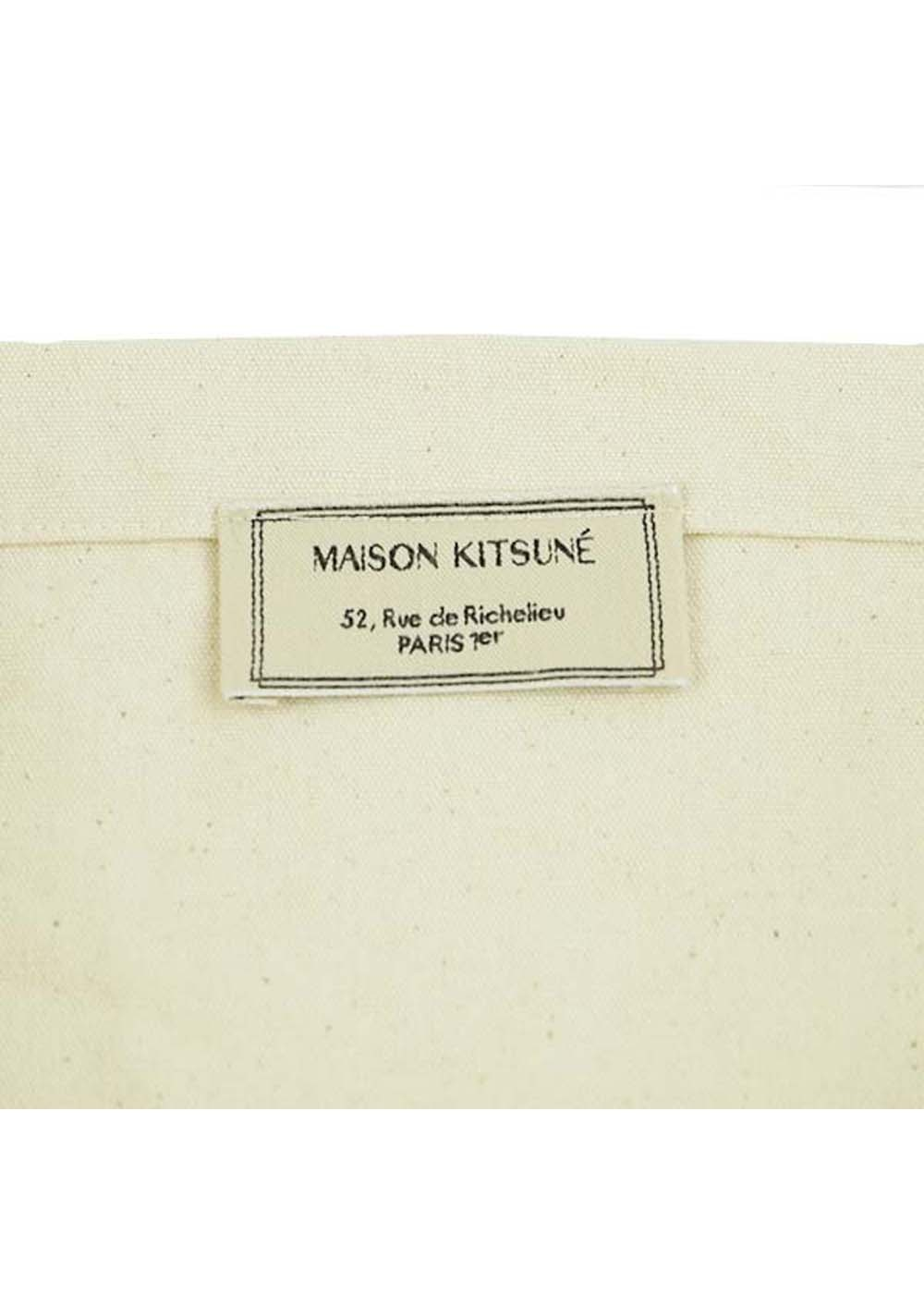 【最大35%OFF】TOTE BAG MK COLLEGE|ECRU|トートバッグ|MAISON KITSUNE
