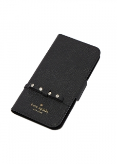 【kate spade NEW YORK】I PHONE X対応 手帳型スマホケース/ELLIOTT STREET FOLIO【BLACK】