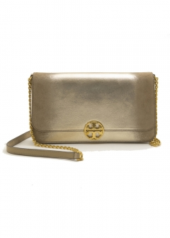 Tory Burch - CHELSEA METALLIC CONVERTIBLE CLUTCH