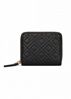 FLEMING QUILTED LEATHER ラウンドファスナー折り財布