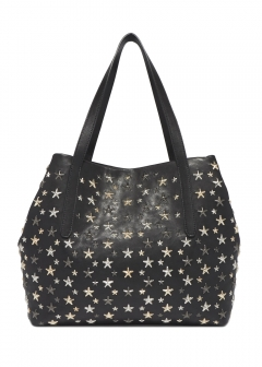 SOFIA L トートバッグ / LEATHER W/MULTI METAL STARS 【BLACK+METALLIC MIX】