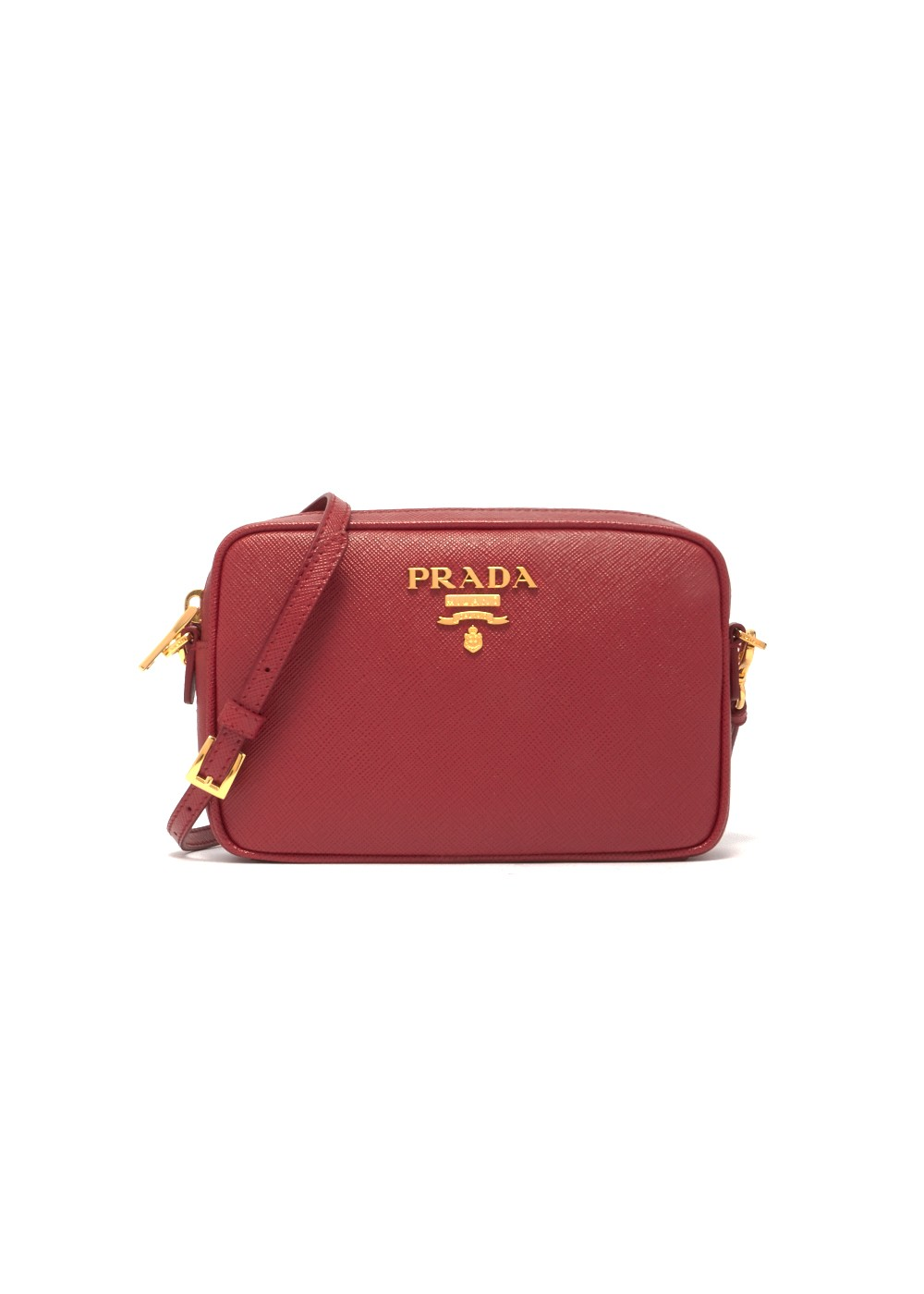 【最大35%OFF】Leather Shoulder Bag|FUOCO|ショルダーバッグ|PRADA(T)